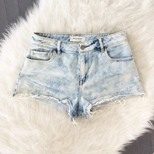 Pacsun Bullhead Acid Wash High Rise Jean Short